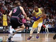 James scores 51 points against former team as Lakers beat Heat