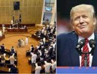 Resolution submitted in KP Assembly against Trump's statement