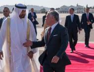 Mohamed bin Zayed, King of Jordan discuss ties, regional developm ..