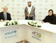 Sharjah Ruler witnesses SBFO, UNICEF signing MoU