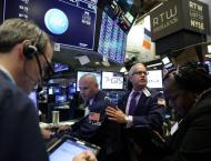 US stocks fall again, Dow goes negative for year