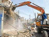 Anti-encroachment drive in District West Karachi