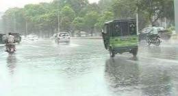 City receives light shower in Sialkot