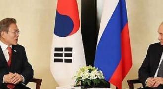 S. Korean, Russian Leaders Discuss Easing of Sanctions on N. Korea - Moon Jae-in's Office