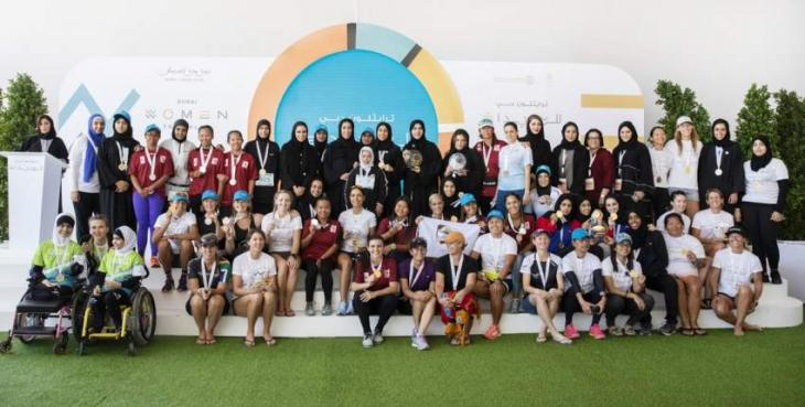 Minister of Community Development salutes Dubai Women's Triathlon participants