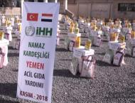 Turkish charity distributes aid to families in Yemen