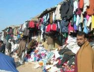 Sale of second hand warm clothes picks up in Landa Bazars Hyderab ..