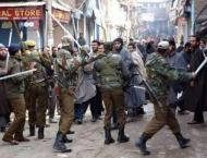 Demonstrations against HR abuses by Indian troops in IOK