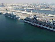 Port Rashid receives 5 cruise airliners on a single day