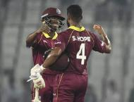 West Indies beat Bangladesh in second ODI to level series