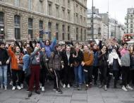 Students Gather in Center of Paris to Protest Higher University F ..