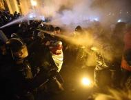 Protesters, police clash in Hungary for third straight night