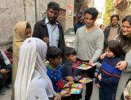 Ali Zafar visits his charity school with wife