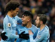 Jesus fires as Man City snatch top spot from Liverpool