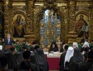 Ukraine leader addresses historic Orthodox synod