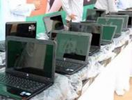 Allama Iqbal Open University distributes laptops to 50 students o ..