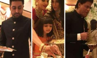 Abhishek Bachchan explains why celebs served food at Ambani weddi ..