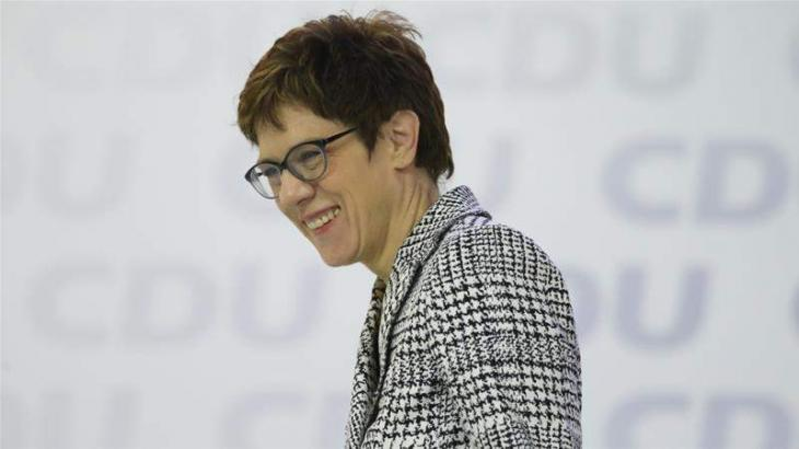 Annegret Kramp-Karrenbauer Elected as Germany's CDU New Leader - Party