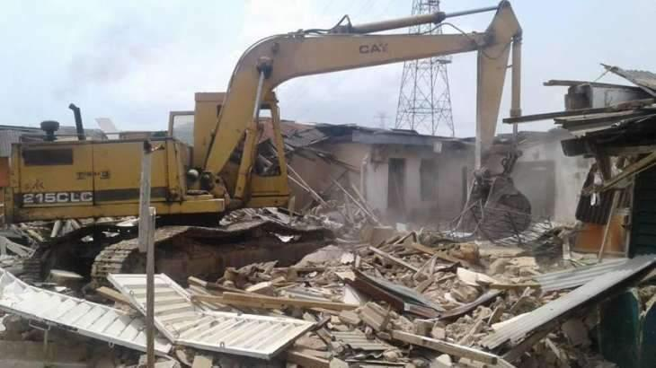 Various illegal constructions demolished in Multan