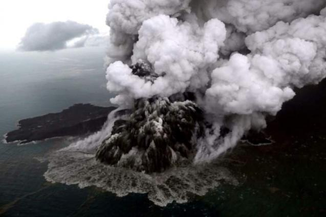 Indonesian Volcano is a Quarter of its Former Size