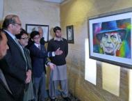 Art exhibition of young artist Abdullah Tanseer held at Bahawalpu ..
