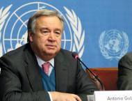 Secretary-General Antonio Guterres  pushes for 2-state solution i ..