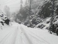 Third spell of snowfall starts at upper parts of Hazara