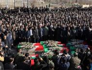 Iran holds funeral of victims of Army plane crash