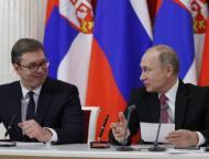 Russian President Vladimir Putin and his Serbian counterpart, Ale ..