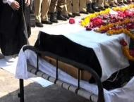Funeral prayer of Traffic Constable held at Police Headquarters K ..