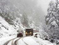 Heavy snowfall continue in Gilgit Baltistan since Saturday