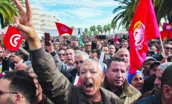 الاتحاد العام التونسي للشغل يهدد بتصعيد ..