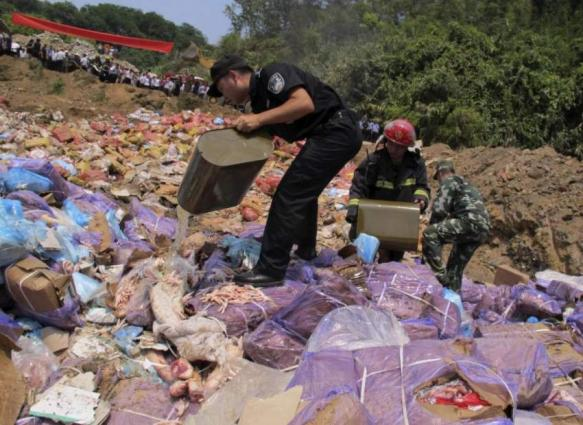 Smuggled frozen chicken feet confiscated in Yunnan