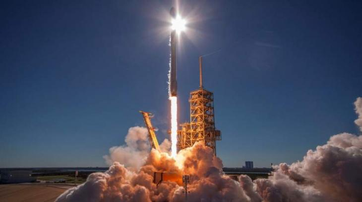 Ten Communications Satellites Head Toward Orbit Atop Space X Falcon 9 Rocket