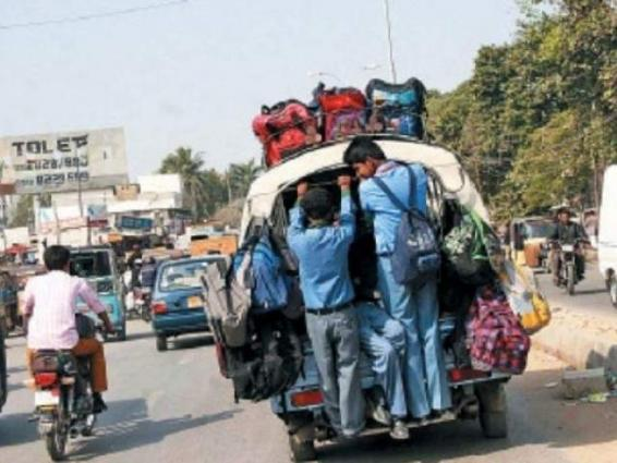 School vans will not be allowed with gas cylinders; Commissioner Karachi