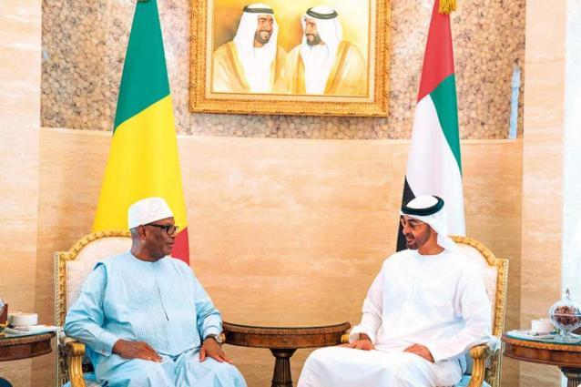 Mohamed bin Zayed receives Malian President