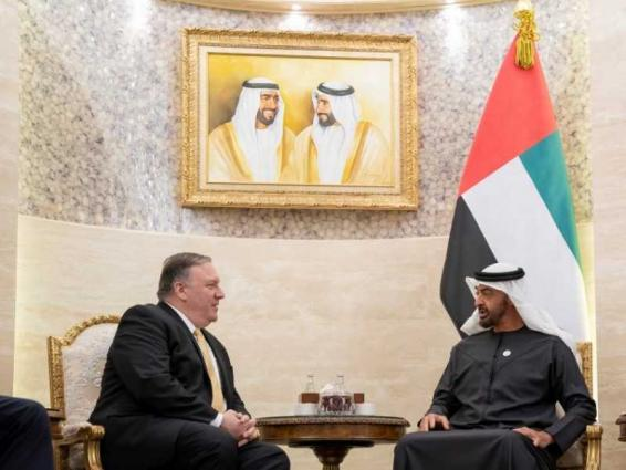 Mohamed bin Zayed receives US Secretary of State