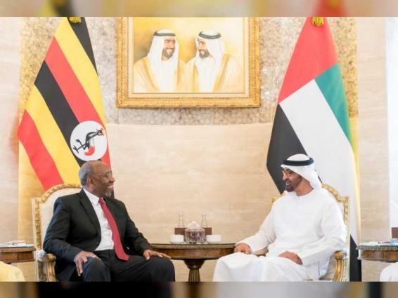 Abu Dhabi Crown Prince receives Ugandan PM