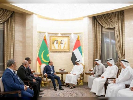 Mohamed bin Zayed receives Mauritania's President