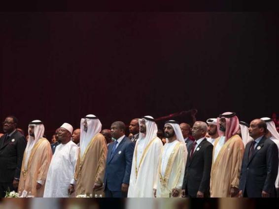 Mohammed bin Rashid, Mohamed bin Zayed attend opening of ADSW