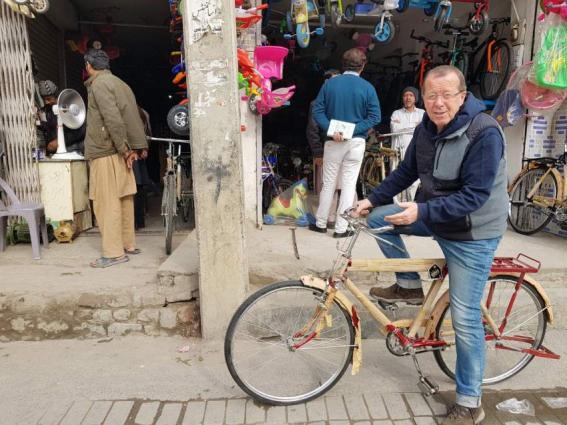 German envoy buys a 'Made in Pakistan' bicycle