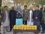 Man arrested for carrying 38kg of drugs from Quetta to Karachi