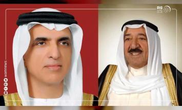 حاكم رأس الخيمة يهنئ أمير الكويت باليوم ..