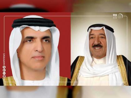 حاكم رأس الخيمة يهنئ أمير الكويت باليوم الوطني وذكرى تحرير بلاده