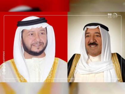 سلطان بن زايد يهنئ أمير الكويت باليوم الوطني وذكرى التحرير