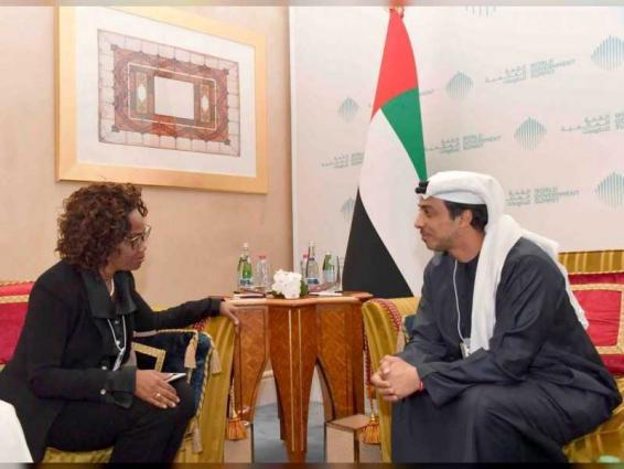 Mansour bin Zayed receives VP of Costa Rica