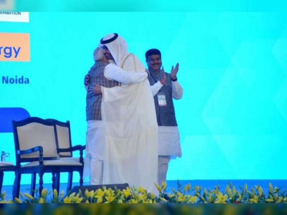 India's PM presents ADNOC Group CEO with 'International Lifetime Achievement Award' at Petrotech 2019