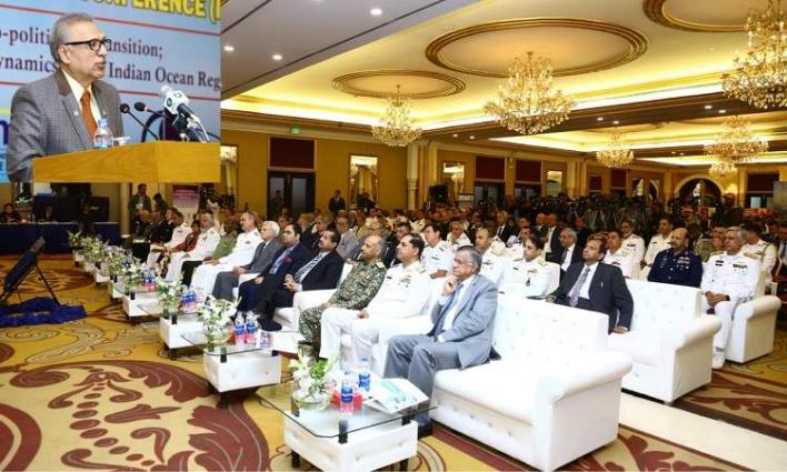 """""""Collaborative Maritime Security Engagements In The Form Of 'Aman-19' Signify Pakistan'S Resolve And Commitment Towards Global Peace And Prosperity"""" : Dr. Arif Alvi While Addressing Opening Session Of International Maritime Conference 2019"""