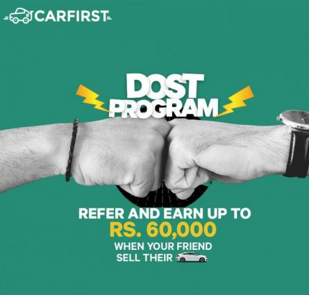 Over 8000 people signed up for car first's dost program within weeks of its launch
