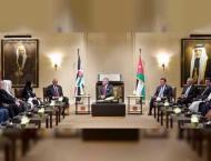 King of Jordan receives heads of Arab parliaments